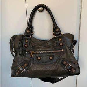Balenciaga bag- grey with rose gold hardware